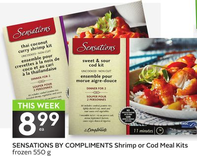 Sensations By Compliments Shrimp or Cod Meal Kits