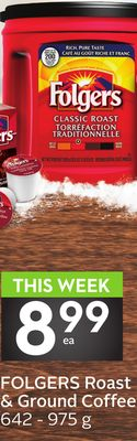 This Week899ea Folgers Roast & Ground Coffee 642 - 975 g