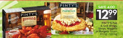 Pinty's Pub & Grill Wings - Strips - Nuggets or Burgers