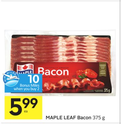 Coupons for maple leaf bacon