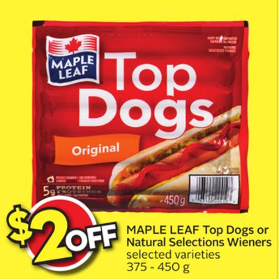 Maple Leaf Natural Selections Chicken Wieners