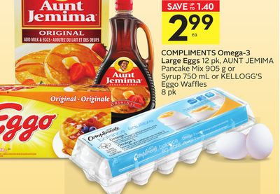 Compliments Omega-3 Large Eggs