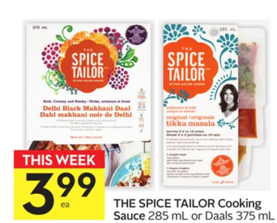 The Spice Tailor Cooking Sauce