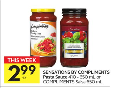 Sensations By Compliments Pasta Sauce
