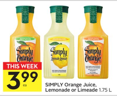 Simply Orange Juice - Lemonade or Limeade