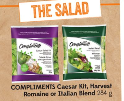 Compliments Caesar Kit - Harvest Romaine or Italian Blend