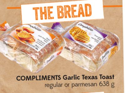 Compliments Garlic Texas Toast