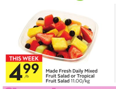 Made Fresh Daily Mixed Fruit Salad or Tropical Fruit Salad