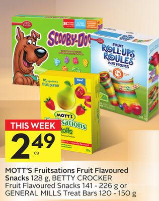 Mott's Fruitsations Fruit Flavoured Snacks