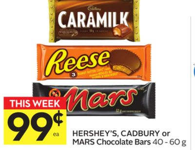 Hershey's - Cadbury or Mars Chocolate Bars