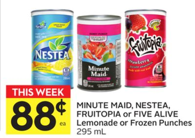Minute Maid - Nestea - Fruitopia or Five Alive Lemonade or Frozen Punches