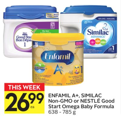 Enfamil A+ - Similac Non-gmo or Nestlé Good Start Omega Baby Formula