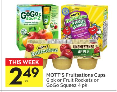 Mott's Fruitsations Cups