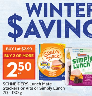 Schneiders Lunch Mate Stackers or Kits or Simply Lunch