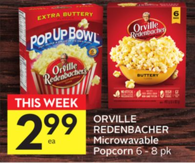 Orville Redenbacher Microwavable Popcorn