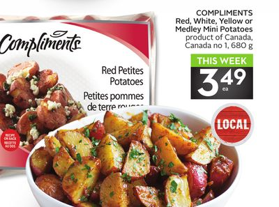 Compliments Red - White - Yellow or Medley Mini Potatoes