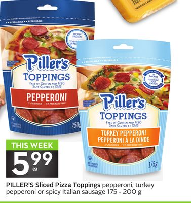 Piller's Sliced Pizza Toppings