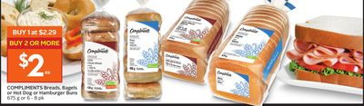 Compliments Breads - Bagels or Hot Dog or Hamburger Buns