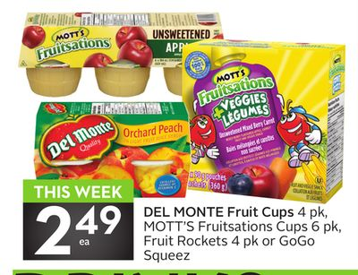 Del Monte Fruit Cups