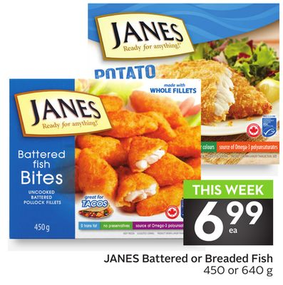 Janes Battered or Breaded Fish
