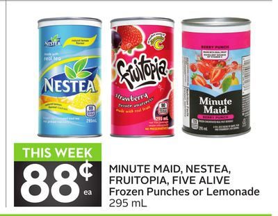 Minute Maid - Nestea - Fruitopia - Five Alive Frozen Punches or Lemonade