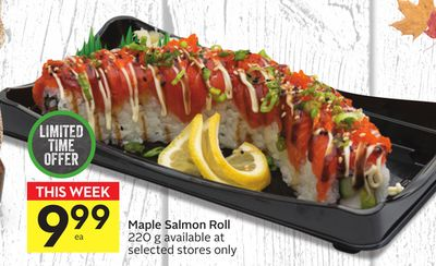 Maple Salmon Roll
