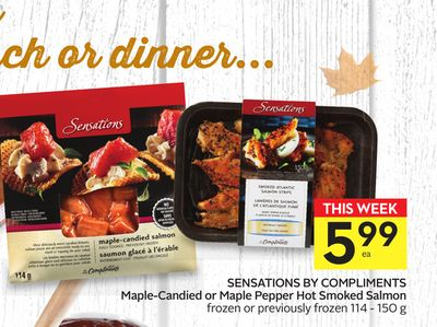 Sensations By Compliments Maple-candied or Maple Pepper Hot Smoked Salmon