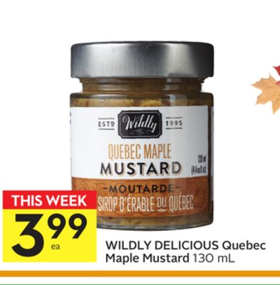 Wildly Delicious Quebec Maple Mustard