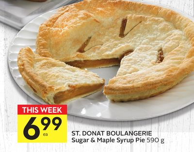 St. Donat Boulangerie Sugar & Maple Syrup Pie