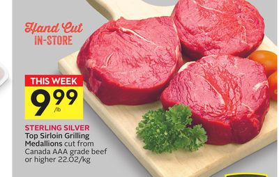 Top Sirloin Grilling Medallions