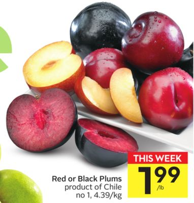 Red or Black Plums