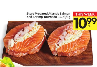 Store Prepared Atlantic Salmon and Shrimp Tournedo