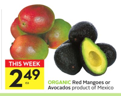 Red Mangoes or Avocados