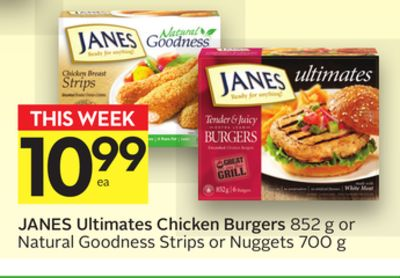 Janes Ultimates Chicken Burgers