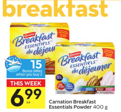 Carnation Breakfast Essentials Powder - 15 Air Miles Bonus Miles