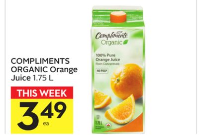 Compliments Organic Orange Juice