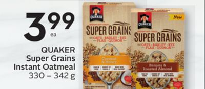 Quaker Super Grains Instant Oatmeal - 15 Air Miles Reward Miles