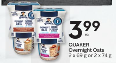 Quaker Overnight Oats - 15 Air Miles Reward Miles