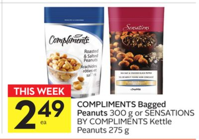 Compliments Bagged Peanuts