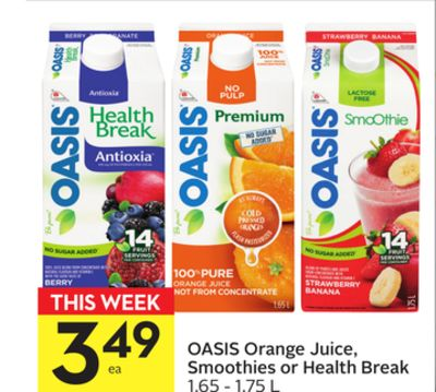 Oasis Orange Juice - Smoothies or Health Break