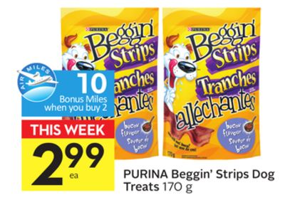 Purina Beggin' Strips Dog Treats - 10 Air Miles Bonus Miles