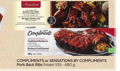 Compliments or Sensations By Compliments Pork Back Ribs