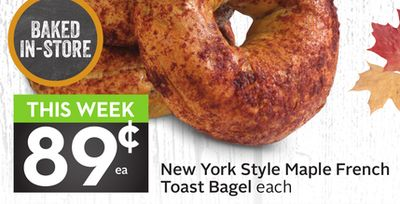 New York Style Maple French Toast Bagel