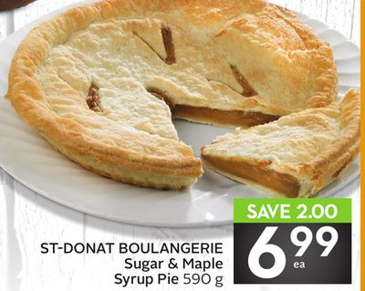 St-donat Boulangerie Sugar & Maple Syrup Pie