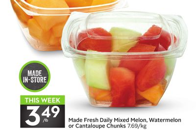 Made Fresh Daily Mixed Melon - Watermelon or Cantaloupe Chunks