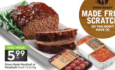 Store Made Meatloaf or Meatballs