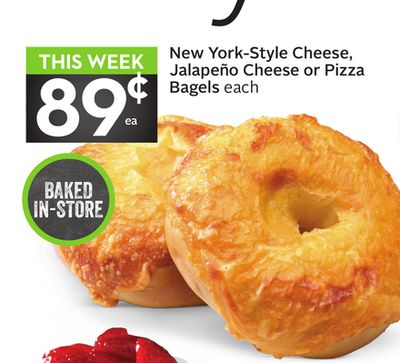 New York-style Cheese - Jalapeño Cheese or Pizza Bagels