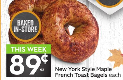 New York Style Maple French Toast Bagels