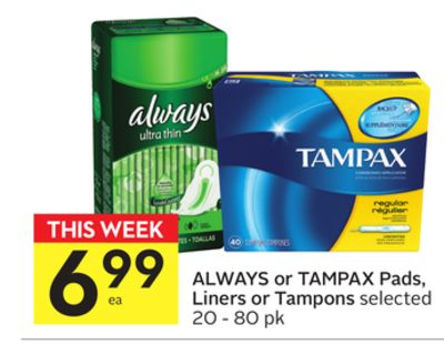 As I watched TV one night, I saw two ads for tampons, three for laxatives, one for