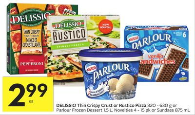 Delissio Thin Crispy Crust or Rustico Pizza